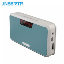 JINSERTA Portable Loudspeaker Wireless Bluetooth Stereo Speaker Power Bank Handsfree TF USB MP3 Player Receiver FM Radio(China)