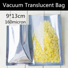 Wholesale 100pcs Small 9x13cm 160micron Vacuum Translucent Aluminizing Foil Bag Heat sealed Vacuum Plastic Bag