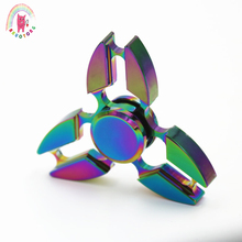 Buy 2017 New Colorful Tri-Spinner Fidget Spinner metal Toy Hand Spinner fidget Autism ADHD Kids/Anti Stress Adult toys for $6.56 in AliExpress store