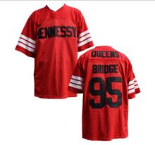 Stitched Prodigy 95 Hennessy Queens Bridge Football Jersey Red Sewn American Football Jersey S-3XL Free Shipping Viva Villa(China)