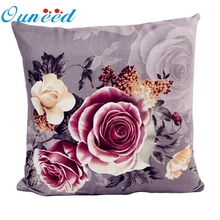 Ouneed Floral Printing Dyeing Peony Sofa Bed Home Decor Pillow Case Cushion Cover quality first