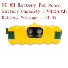 14.4V 2500mAh Ni-MH Battery for iRobot Roomba 620 500 510 520 530 540 550 560 610 630 650 660 760 780 790(China)