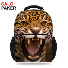 15inch Fashion Men 3d Animal backpacks for school bags for teenage girls Travel Daypack boys Leopard backpack Big Size Mochila