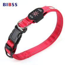 Night Flashing Pet LED Luminous Dog Collars USB Charging Red Greed Glowing Illuminated Pet Collars for Large Dogs Labrador Teddy(China)
