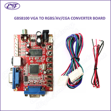 Free shipping 2017 VGA TO CGA 5 PINS RGBS/CVBS/S-VIDEO/AV video converter board CRT monitor converter board for game machine