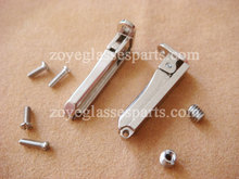 latest spring hinge for wood eyewear 2.6mm spring stable spring action nickel alloy with screws TSH-64 ship in 2 days