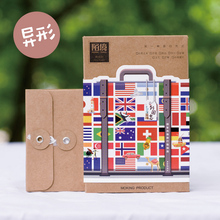 30 pcs/lot Vintage travel luggage national flag postcard landscape greeting card christmas card birthday card message gift cards