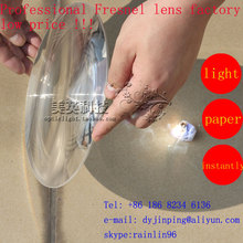 200mm Diameter Round Optical Plastic Solar Fresnel Condensing Lens Focal Length 120mm for Plane Magnifier,Solar Concentrator