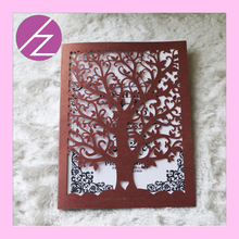 hot sale 100pcs /lot tree love wedding decoration wedding favors invitation cards laser cut paper craft in china  QJ31