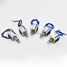TAU-0826 DC 6V/12V/24V Keeping Force 16N/20N Pull&Push Type Linear Solenoid Electromagnet travel 10mm
