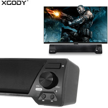 XGODY LP-09 Soundbar for TV PC Phone Bluetooth Speaker 10W Home Theater Audio Receiver Music Center Sound Bar with FM Radio(China)