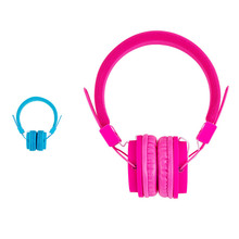Students Over Ear Headphones Childrens Girls Boys Earphone Pink Blue Teen Lightweight & Adjustable Headset for Tablet School(China)