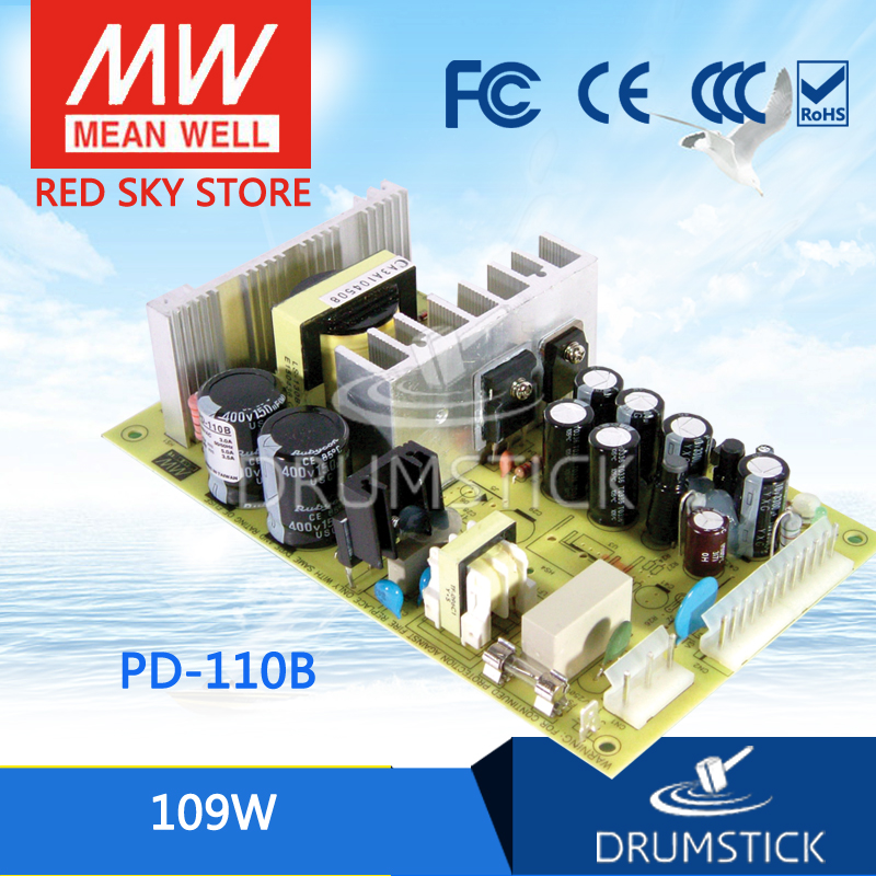 hot-selling MEAN WELL PD-110B meanwell PD-110 109W Dual Output Switching Power Supply<br>