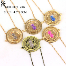 Wholesale a lot Hermione Granger Time Turner Pendant Spin Hourglass Pendant Necklace Fan Gift Movies Jewelry for Men Women