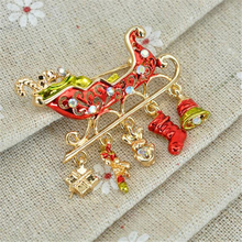 Home Wider The Christmas tree brooch pin Christmas gifts oct107 Drop Shipping