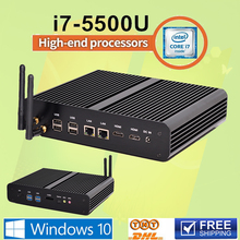 Mini usb Thin PC 3 Years Warranty Broadwell 300M Wifi with dual antennas Mini pc Intel Core i7 5500U 4500U Graphics Iris 6100