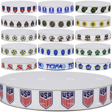 Dobro 16 Choices Football North American Top Sport Team Printed Grosgrain Ribbons for DIY Craft Party Decoration Gift Packaging(China)