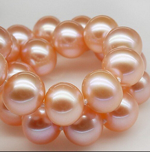DYY+++429 Counter genuine 9-10mm round very  light pink freshwater pearl necklace for her mother