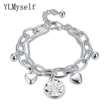 Buy YLMyself Stainless Steel Women trendy charms Bracelet pulseira feminina life tree small DIY pendants chain Bracelets & Bangle for $6.74 in AliExpress store