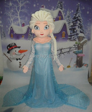Hot Sale Cartoon Character Princess Elsa Dress from Hot Movie Elsa Mascot Costume Theme Free shipping