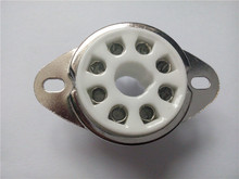 8pcs Ceramic tube socket GZC8-Y-3 Silver plated electronic outlet for KT88 6550 EL34 274b(China)