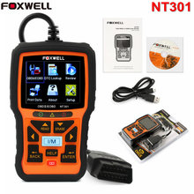 Universal Car Code Reader Foxwell NT301 EOBD OBDII OBD2 Engine OBD Diagnostic Tool with O2 Sensor PK AL519 Automotive Scanner(China)