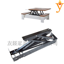 Furniture Hardware Metal Transform Adjustable Table Mechanism With Spring B09