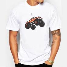 Men Monster Truck Flying Car Crusher T-shirt 2017 Summer Fashion Male Casual Tops Men's Novelty Imaginative Printed Short Sleeve(China)