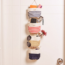High Quality Beauty Toy Storage Bag Cotton and Linen Cable Bag Eco-friendly Hanging Organizer Jute Bag on The Wall Hot Sale(China)