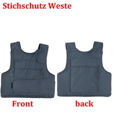 Effectively block 24 joules 3 Layer stab resistant vest soft self-defense security use schutzweste tatico anti covert stab vest(China)
