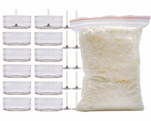 Natural Soy Wax Bulk(200g) + 12 PCS Tea light Wax Cups + Wicks for Candle Making(China)