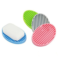 Creative Silicone Flexible Soap Plate Holder Bathroom Toilet Soapbox Soap Dish 09WG(China)