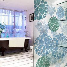 Custom Static Cling Stained Glass Window Film Frosted Opaque & Privacy Home Decor Digital print Removable BLT421 Sea of Flowers(China)