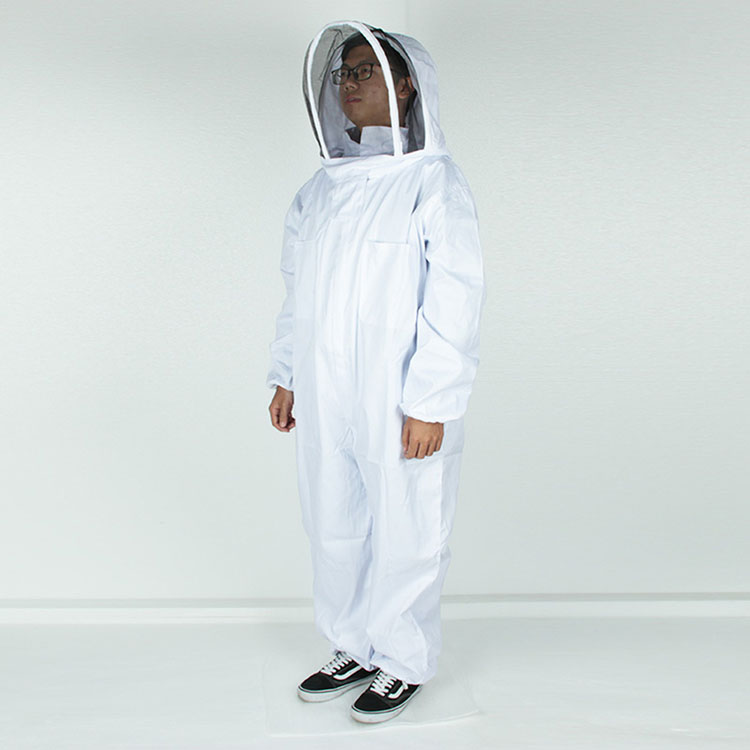 Aolamegs-Apiarist Beekeeping Suit-White-(All-in-One)-Fencing Veil-Total Protection for Professional & Beginner Beekeepers (5)
