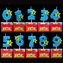 Bowknot Number Cake Candles Cartoon Boy Girl Kid's Birthday Cake/Cupcake Toppers Party Birthday Candle Party Supplies