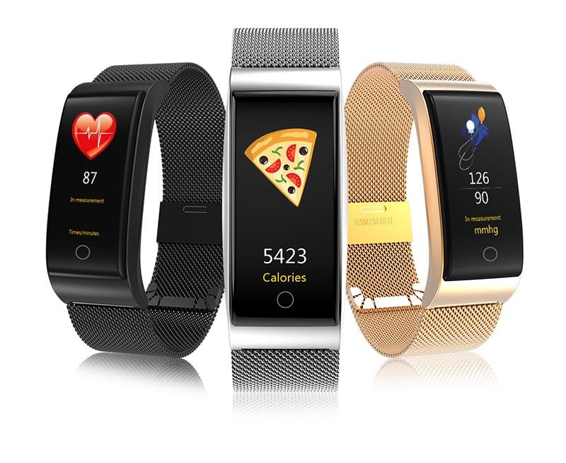 VERYFiTEK F4 Metal Smart Band Wristband Blood Pressure Heart Rate Monitor Men Women Fitness Watch Pedometer Smart Bracelet (4)
