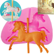 Milkmico M253 3D horse shape silicone mold fondant mold Cake Decorating Fondant Mould Chocolate Baking Mold Cake Decorating