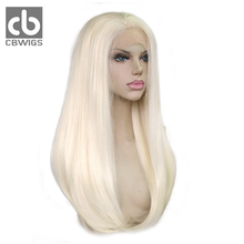 CBCBWIGS Glueless Long Straight Red or Blonde Synthetic Lace Front Wig for White Women(China)