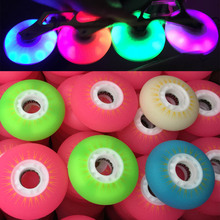 4 PCS/SET Led Lighting Inline Skate Wheels 90A Flash Roller Wheels Sliding Skating Wheels 80mm Slalom For SEBA Patines Tires