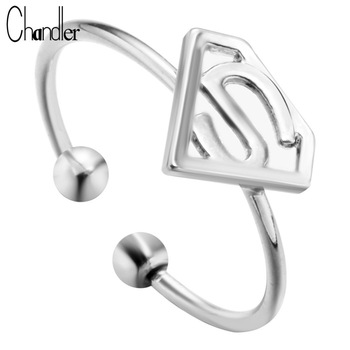 10pcs Silver Gold Plating Dollar Shape Charm Ring With S Letter Triangle Free Size Simple Jewelry For Women Knuckle Toe Anillos