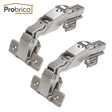 Probrico 4 Pair Soft Close Kitchen Cabinet Corner Folded Hinge 165 Degree CHWH04HA Concealed Combination Cupboard Door Hinge(China)