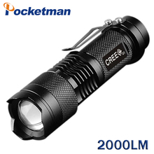 Mini lanterna 2000LM powerful led flashlight linterna Potente CREE Q5 Gladiator Flashlight 3Modes Zoomable LED Torch PenlightZ92(China)
