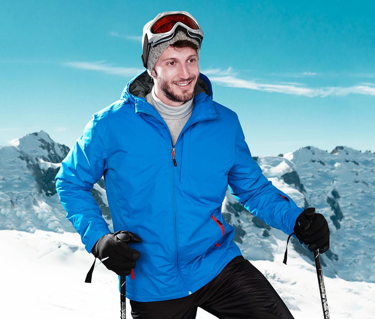 Men Winter Skiing Jackets Outdoor Waterproof Windproof Cotton-padded Hiking Jacket Men Sports Skiing Men Clothing Size L/XL <br><br>Aliexpress