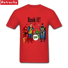 2017 New Fashion Rock It T Shirts Men's Street Short Sleeved Crew Neck Cotton Spider Man Super Green Custom Printed XXXL Tee(China)