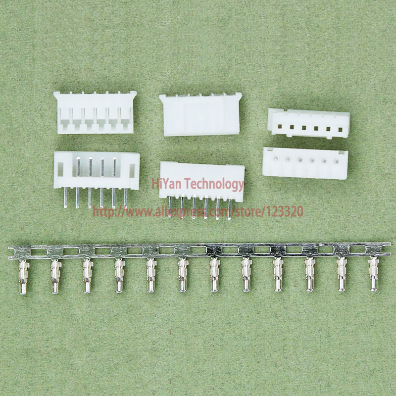 (50sets/lot) PH2.0 6P 6Pin 180degrees PH Connector Pitch:2.0MM 6A 180 degree Pin Header + Terminal + Housing PH2.0-6P<br><br>Aliexpress