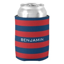 Fashion Wedding Favors Supplies Navy Blue and Red Rugby Stripes Can Cooler Neoprene Stylish Valentines Gifts Beverage Insulator