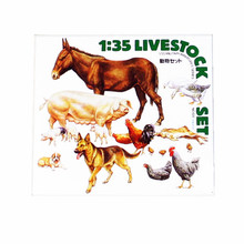 OHS Tamiya 35128 1/35 Livestock Set Miniatures Assembly Military figures Model Building Kits TTH
