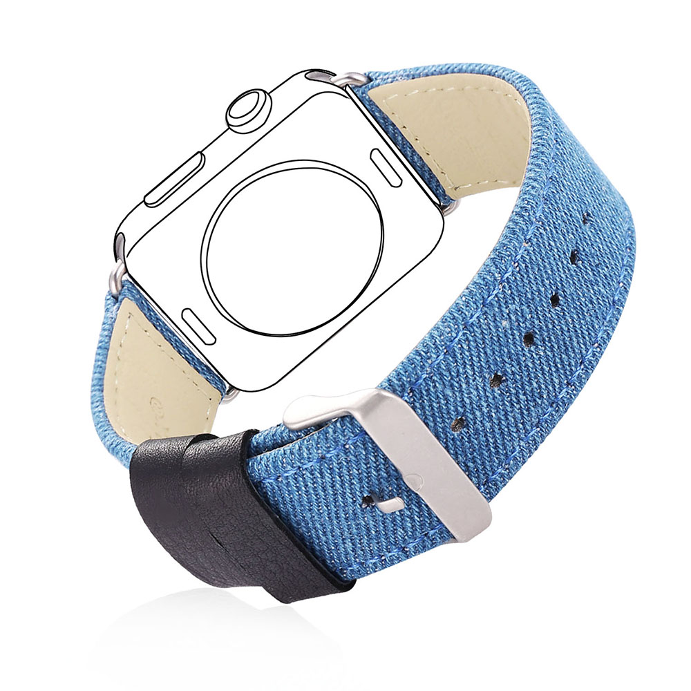 Fabric Watch Strap Watchband For Applewatch Series 2/1 38MM/42MM Blue Band Watch Strap Men/Women 2017 New APB2223<br><br>Aliexpress