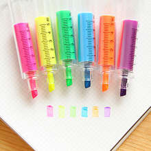 1 Pc Cute kawaii  Korean Stationery School Supplies  Fluorescent Syringe WatercolorHighlighters  pens Marker Pen Free shipping