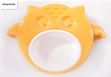 Super sturdy and durable owl dog bowl candy color pet bowl dog cat rabbit eat drink bowl environmental protection food bowl(China)